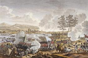 The Battle of Friedland, 14 June 1807, engraved by Francois Pigeot (b.1775) (aquatint)