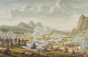 The Battle of Mount Tabor, 27 Ventose, Year 7 (17 February 1799) engraved by Louis Francois Couche (