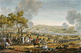 The Battle of Wagram, 7 July 1809, engraved by Louis Francois Mariage (aquatint)