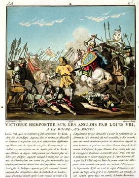 Victory Gained Over the English by Louis VIII (1187-1226) at La Roche aux-Moines, engraved by Jean B