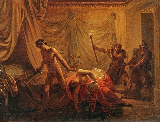 The Death Of Cleonice Oil On Canvas Mou Jacques Louis
