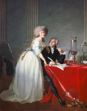 Antoine Laurent de Lavoisier and his wive