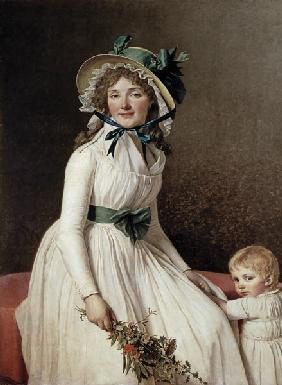 Madame Pierre Seriziat (nee Emilie Pecoul) with her Son