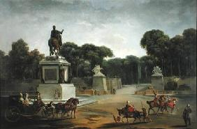The Entrance to the Tuileries from the Place Louis XV in Paris
