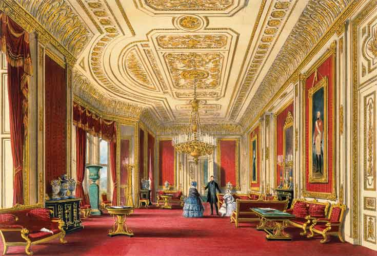 The Crimson Drawing Room Windsor Castle James Baker