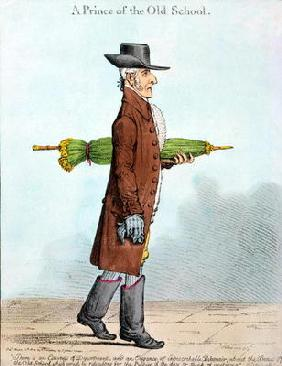 A Prince of the Old School, published by Hannah Humphrey in 1800 (hand-coloured etching)