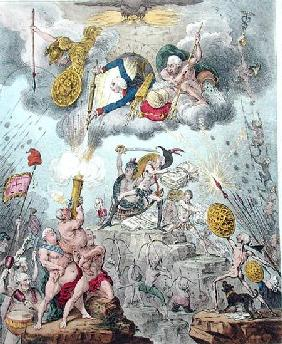 Confederated Coalition, or The Giants Storming Heaven, published by Hannah Humphrey in 1804 (etching