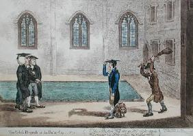 Plate 3 from 'The Rake's Progress at University'