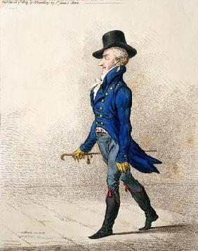 Portrait of a Man, published by Hannah Humphrey in 1803 (hand-coloured etching)