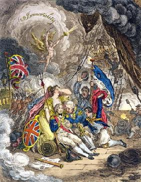 The Death of Admiral Lord Nelson at the Moment of Victory! published by Hannah Humphrey in 1805 (han