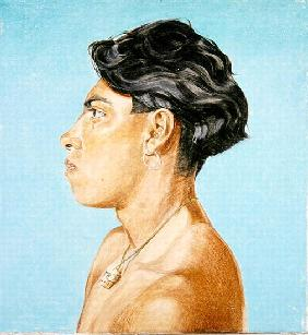 Portrait of Pancho, 1985 (oil on canvas)