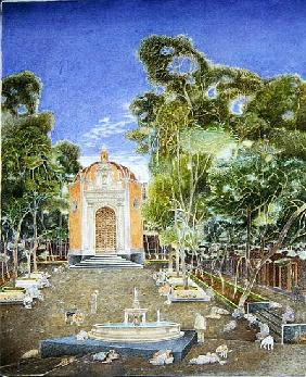 The Chapel of La Conchita, 2001 (oil on canvas)