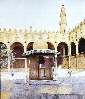 The Kiosk in the Courtyard of the al-Maridani Mosque, Cairo, 1986 (oil on canvas)