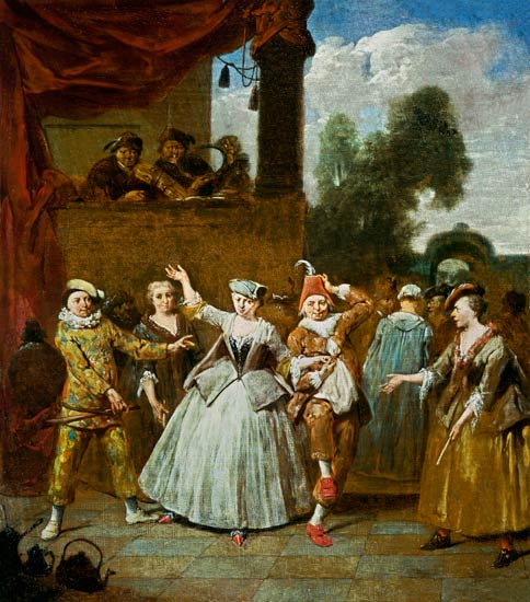 Actors From The Commedia Dell Arte Jan Baptist
