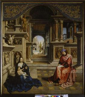St. Lukas paints the Madonna.