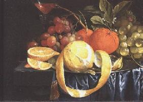 Still Life of Grapes, Oranges and a Peeled Lemon