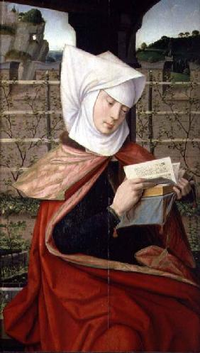 Emerency, the mother of St. Anne, panel from the extreme left-hand side of a polyptych of the Geneal