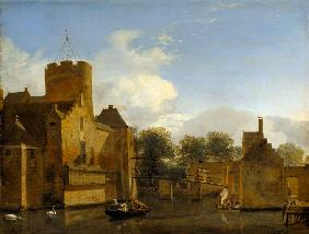 View of Schloss Leonersloot, Holland