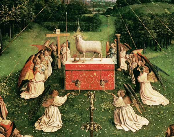 Agnus Dei Ghent Altar Jan Van Eyck As Art Print Or