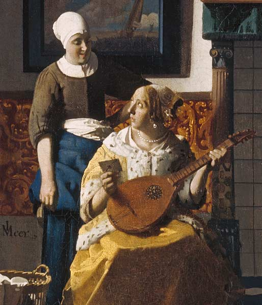 The Love Letter Cut Out From Jan Vermeer Van Delft As