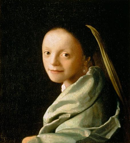 Portrait Of A Young Woman Jan Vermeer Van Delft As Art