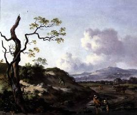 Wynants, Jan : A Landscape with Traveller...
