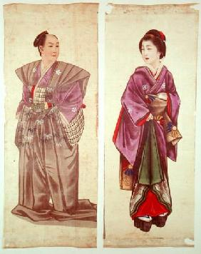 Two Japanese Figures