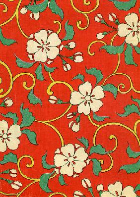 Woodblock Print of Apple Blossoms