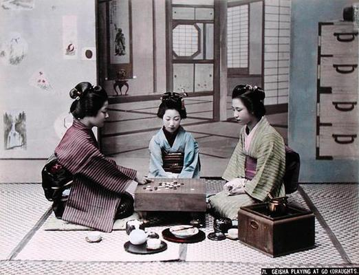 Geisha Girls Playing The Game Of Go C1