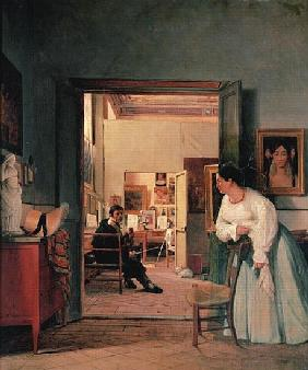 Ingres'' Studio in Rome