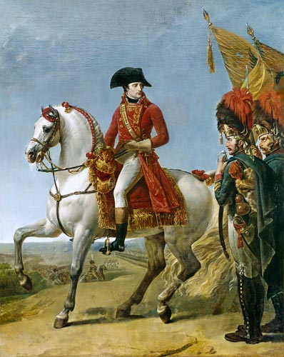 Napoleon Bonaparte, First Consul, Reviewing his Troops after the ...