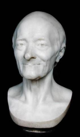 Bust of Voltaire (1694-1778) without his wig