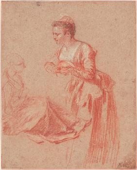 Two Figure Studies of a Young Woman