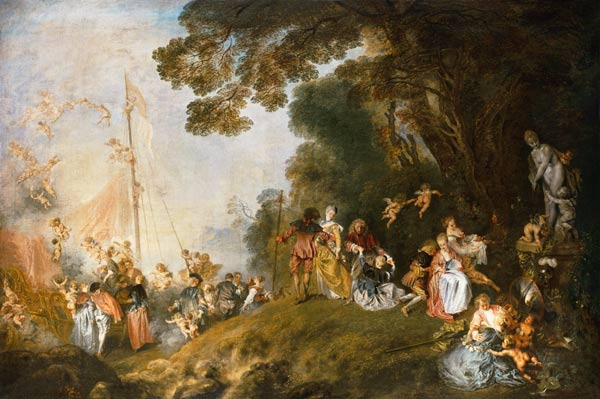 Artist Painted  Sthe Embarkation For Cythera