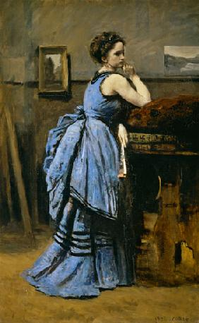 Woman in blues