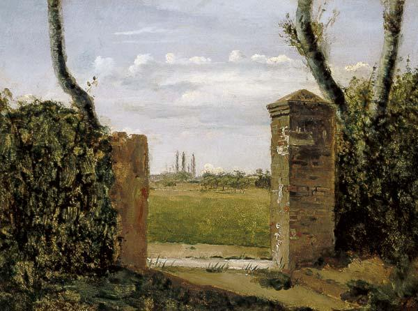 C.Corot / Gate to a Farm / Paint./ C19