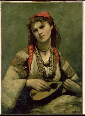 Christine Nilson (1843-1921) or The Bohemian with a Mandolin