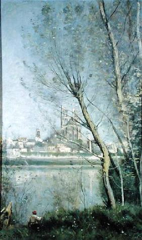 Mantes, View of the Cathedral and Town through the Trees