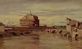 Rome, Tiber and angel castle