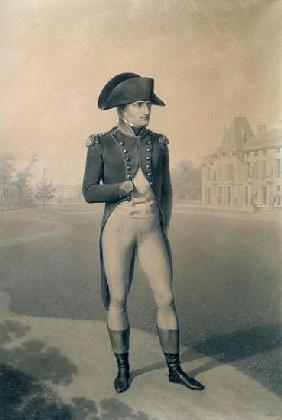 Napoleon Bonaparte (1769-1821) First Consul at Malmaison, from ''Livre du Sacre''