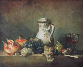 Still Life with Grapes and Pomegranates
