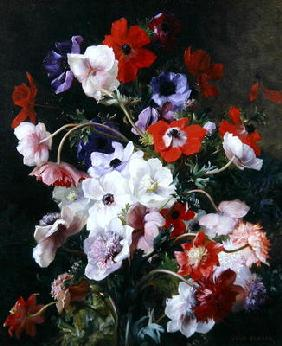 Benner, Jean : Still Life of Flowers (oil...