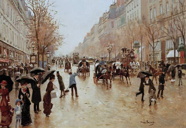 Boulevard Poissonniere in the Rain, c.1885