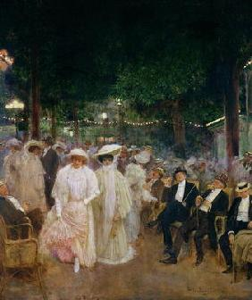 The Gardens of Paris, or The Beauties of the Night, 1905 (oil on canvas)