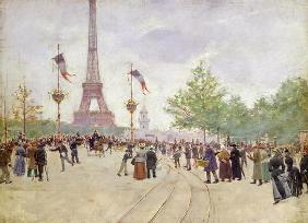Entrance to the Exposition Universelle, 1889 (oil on canvas)