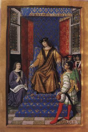 Louis XII of France (from the Poetic Epistles of Anne of Brittany and Louis XII)