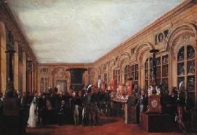 Alexandre Brongniart (1770-1847) Presenting the Artists of the Sevres Workshop to Louis XVIII (1755-