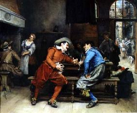 Two Men Talking in a Tavern