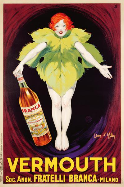 Poster advertising 'Fratelli Branca' vermouth