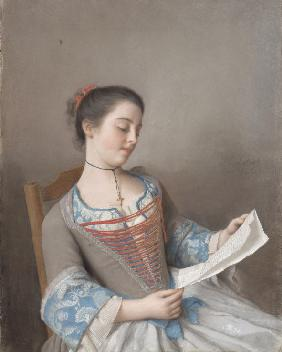 A girl reading (La liseuse)